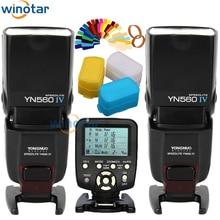Yongnuo 2x yn-560 iv yn560iv yn560 iv universal wireless blitz speedlite + yn560-tx auslöser für nikon dslr