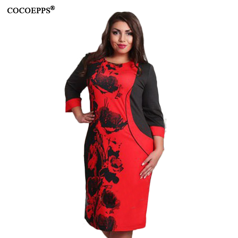 Elegante de moda vestidos de las mujeres de gran tamaño NUEVO 2017 mujeres de ta