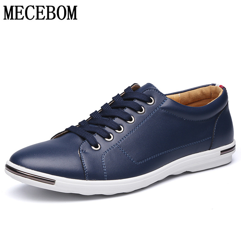 Leisure Men's Leather Shoes Big Size 48 Split Leather Shoes For Male Adult Lace-up Men Black Shoes Moccasins 2005m