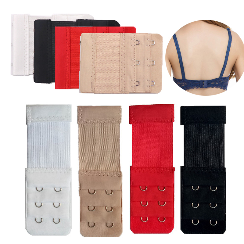 3/4pcs Buckle Extended Lengthened Belt Bra Extenders 3 Row 2 Hook / 2 Row 3 Hook Extension Accessories For Belt Underwear