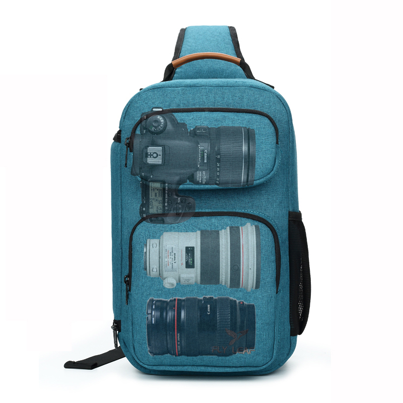 Flyleaf FL 345# Digital SLR camera bag male backpack bag waterproof professional messenger camera bag anti   theft bag-in Camera/Video Bags from Consumer Electronics