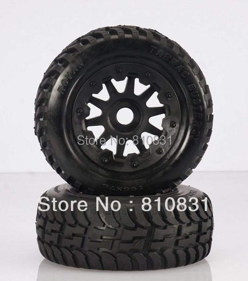 Freeshipping The front second generation road tires kit for baja 5T/SC 5b baja front road tires set 85029 2