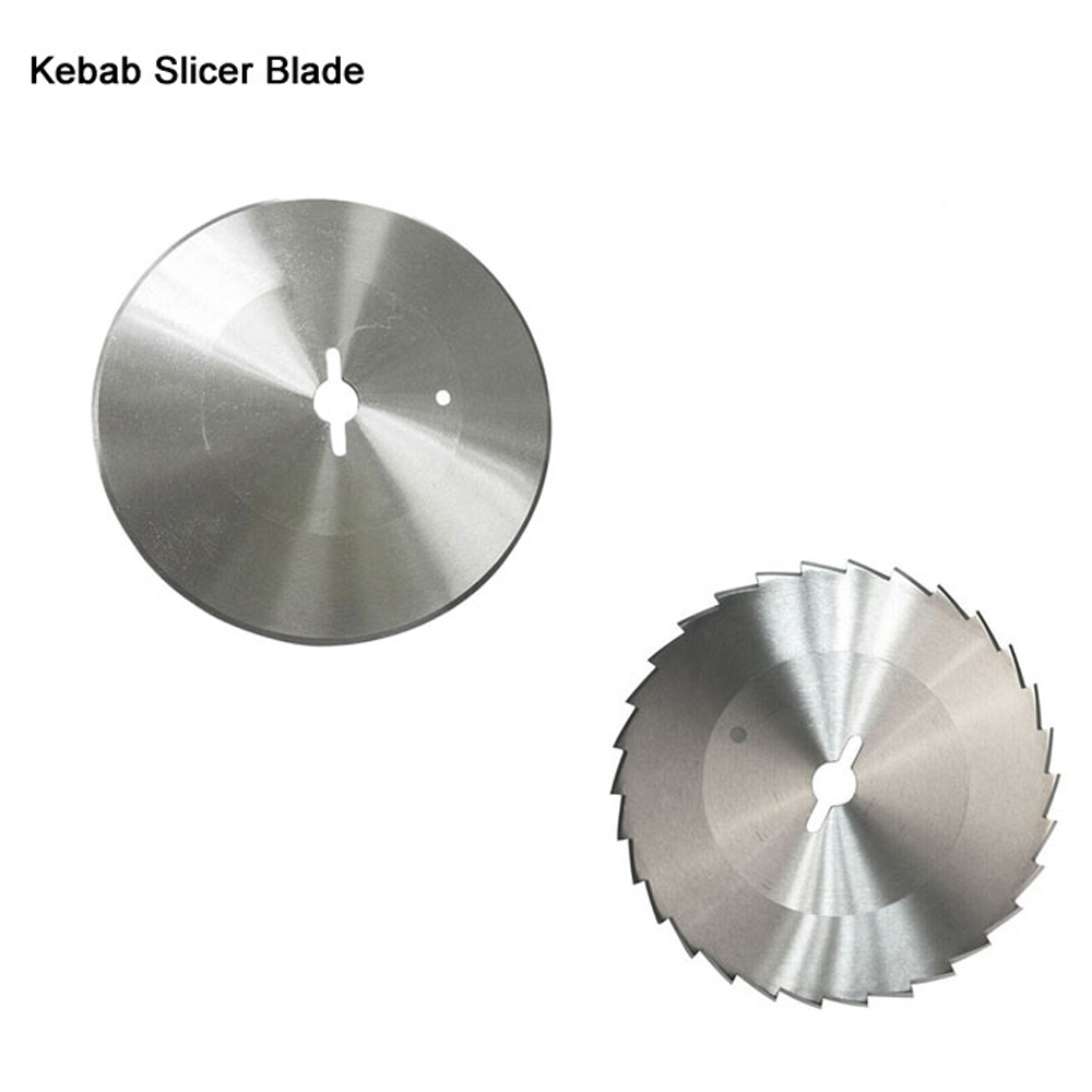 ITOP High Quality 2pcs/lot Stainless Steel Blade Teeth Round Blade For Kebab Slicer For Shawarma Machine Kitchen Knife 1pc hot sale 100%quality guaranteed doner kebab slicer two blades electrical kebab knife kebab shawarma gyros cutter