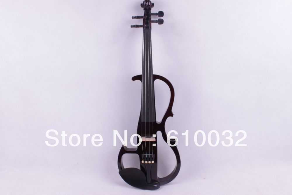 New    4 string 16'' Electric Viola Silent Solid Wood Body Powerful Sound Case viola  Bow handmade brand new dark brown great streamline model 4 4 electric violin solid wood string instrument rosin case bow included