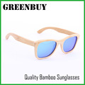 GREENBUY Custom Sunglasses Bamboo Men Women Wood Brand Shades Eyewear Luxury Blue Mirrored Polarized Wooden Sun Glasses Mens