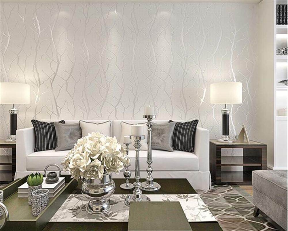 beibehang Living room non woven TV modern minimalist bedroom living room tree stripe stripe deerskin papel de parede wallpaper