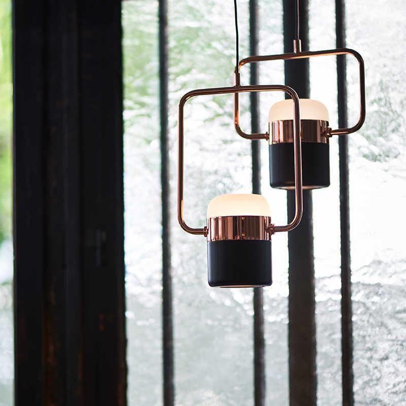 Светодиодный подвесной светильник в скандинавском стиле с регулируемой яркостью, креативные подвесные лампы для ресторана, спальни, кафе-магазина с одной головкой