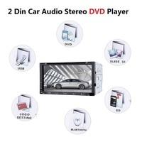 7080B 7 Inch 2 Din Car Video Player 2Din Car DVD Player DVD CD Slot Bluetooth