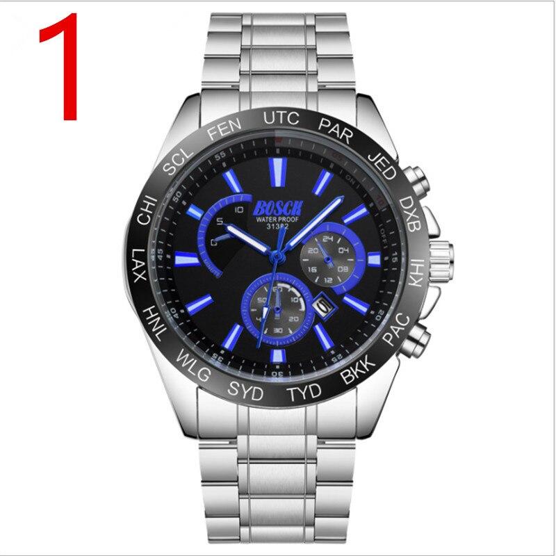 Men's watch quartz watch fashion double calendar watch male waterproof luminous automatic mechanical watch Korean version цены