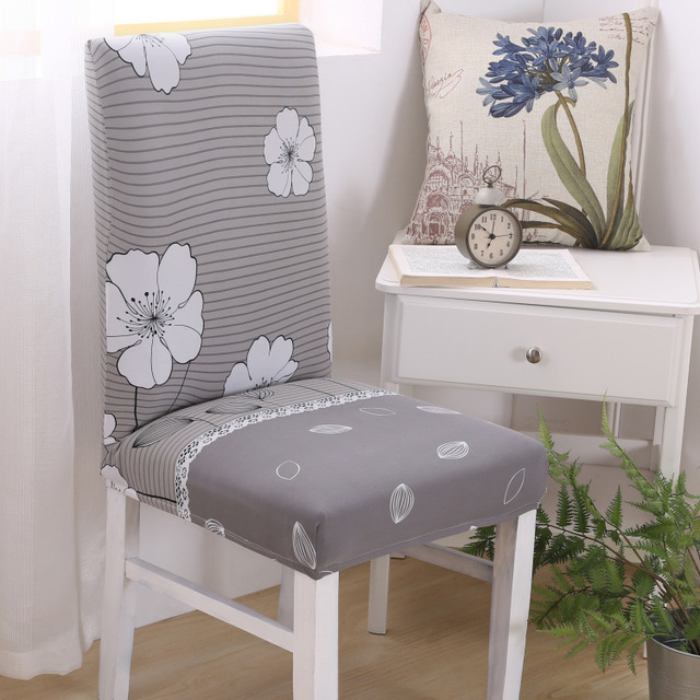 Chic Absorb Sweat Stretch Dining Chair Protector Slipcover Cover Spandex  Removable Anti Slip Shabby Chair