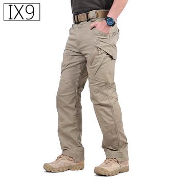 IX9 City wojskowe taktyczne spodnie w stylu cargo mężczyźni SWAT bojowe spodnie wojskowe męskie dorywczo wiele kieszeni elastyczny bawełniany spodnie tanie i dobre opinie s archon Cargo pants COTTON Poliester Midweight Pełnej długości W stylu Safari REGULAR Suknem NONE Zipper fly Mieszkanie