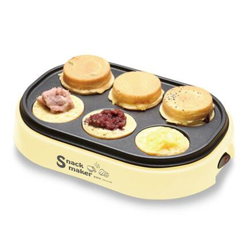 220V Electric Hamburger Red Beans Cake Pie Maker Machine Non-stick Eggs Roasted Pancake Frying Pan For Breakfast EU/AU/UK/US innovative owl shape silicone egg frying mould frying pancake mold breakfast mould creative kitchen supplies for diy present