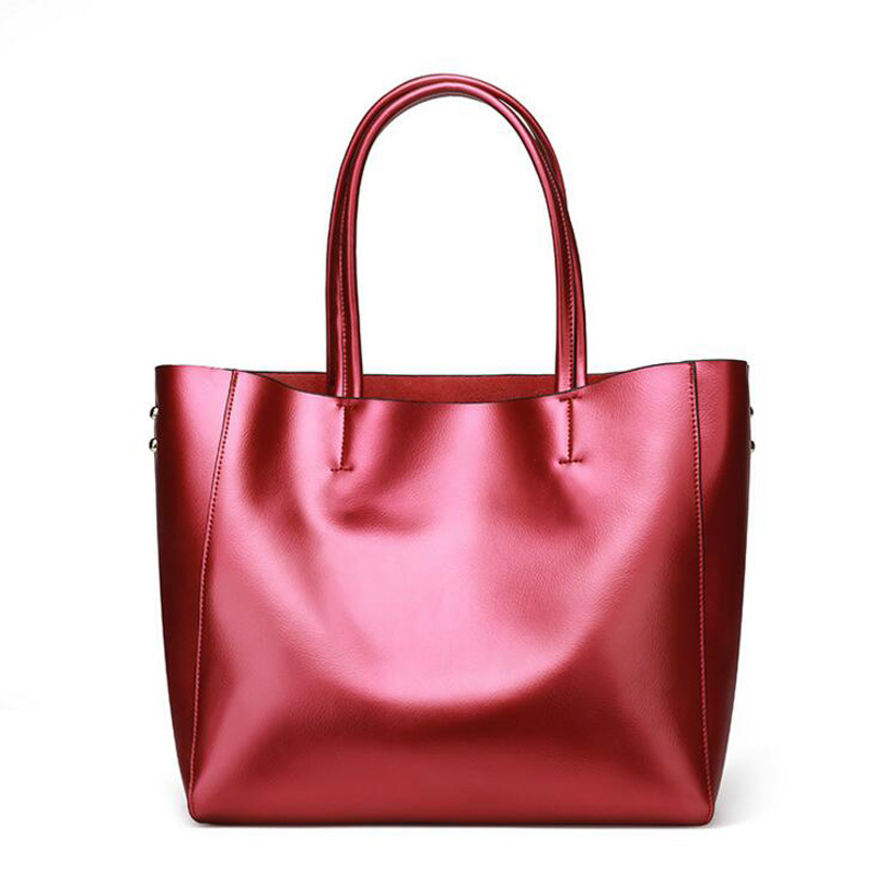 Women bags Genuine leather Europe Handbags for Female high quality Luxury Design ladies bags big capacity shopping bags 7 colors fourdesigns women shoulder bags high quality handbags skull head print top handle bags ladies big capacity shopping luxury totes