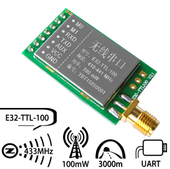SX1278/SX1276 wireless module | 433MHZ wireless serial | LORA spread 3000 m | UART interface
