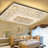Living room lights ceiling lamps Crystal lamps Main bedroom lights rectangular restaurant Home atmosphere simple modern LU807113