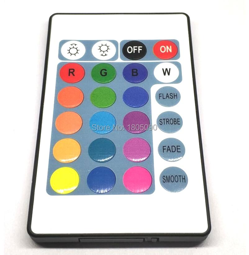 Contrôleur sans fil sans fil RF, 12V 24 touches, rgb led, IR, pour 3528/2835/5050, LED bandes RGB, 12V 24 touches, sans batterie