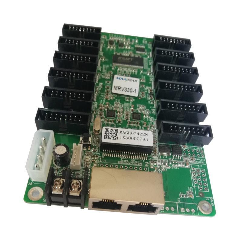 DIP SMD <font><b>P8</b></font> P10 <font><b>outdoor</b></font> 3535 <font><b>led</b></font> sign screen module video card NOVA MRV330-1 high refresh rate