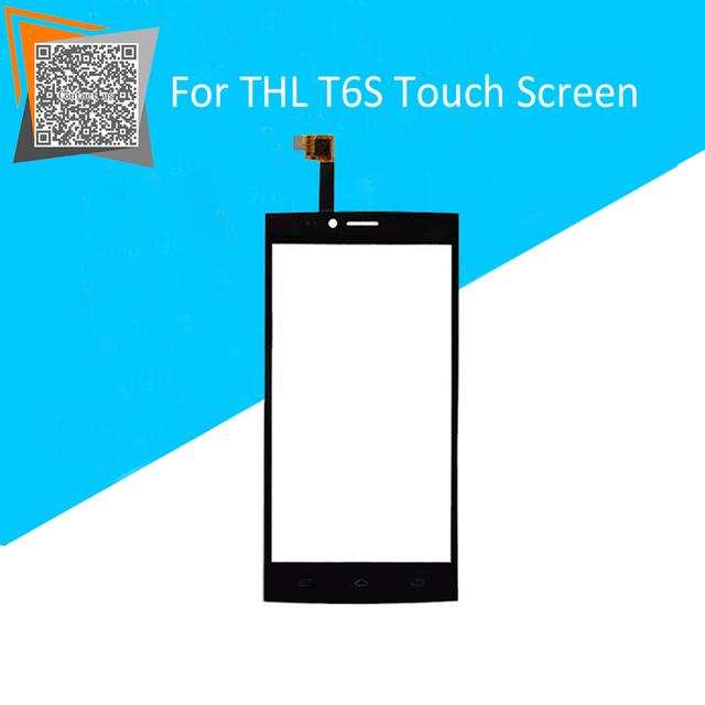 """New Black 5 """"Polegadas Tela Sensível Ao Toque Para THL t6 Frente Digitador Sensor de Vidro Substituição Lente"""