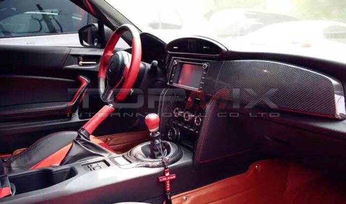 GT86 Carbon Fiber Interior BRZ Dry Carbon Sticker Cover Dashboard ...