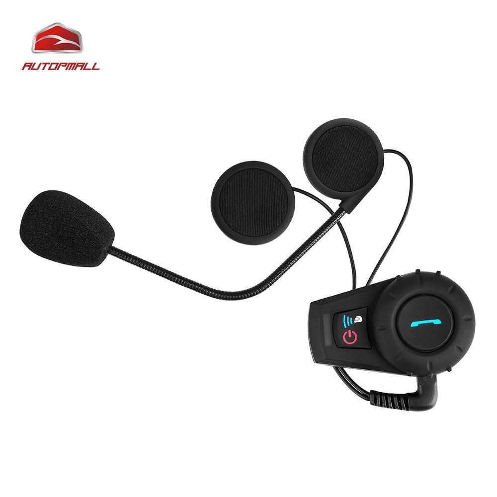 ФОТО Intercom Moto FDC-VB 500M HiFi BT Bluetooth Motorcycle Interphone Water Resistant Helmet Headset Moto Intercom 300 Hours Standby