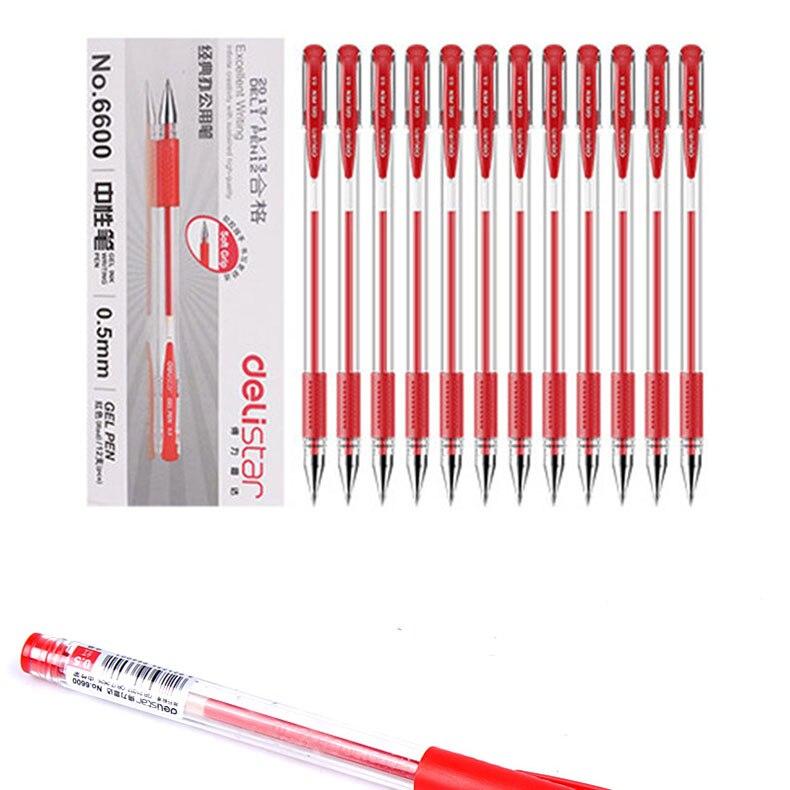 Deli 12 шт/лот гелевая ручка 05 мм офисные канцелярские принадлежности