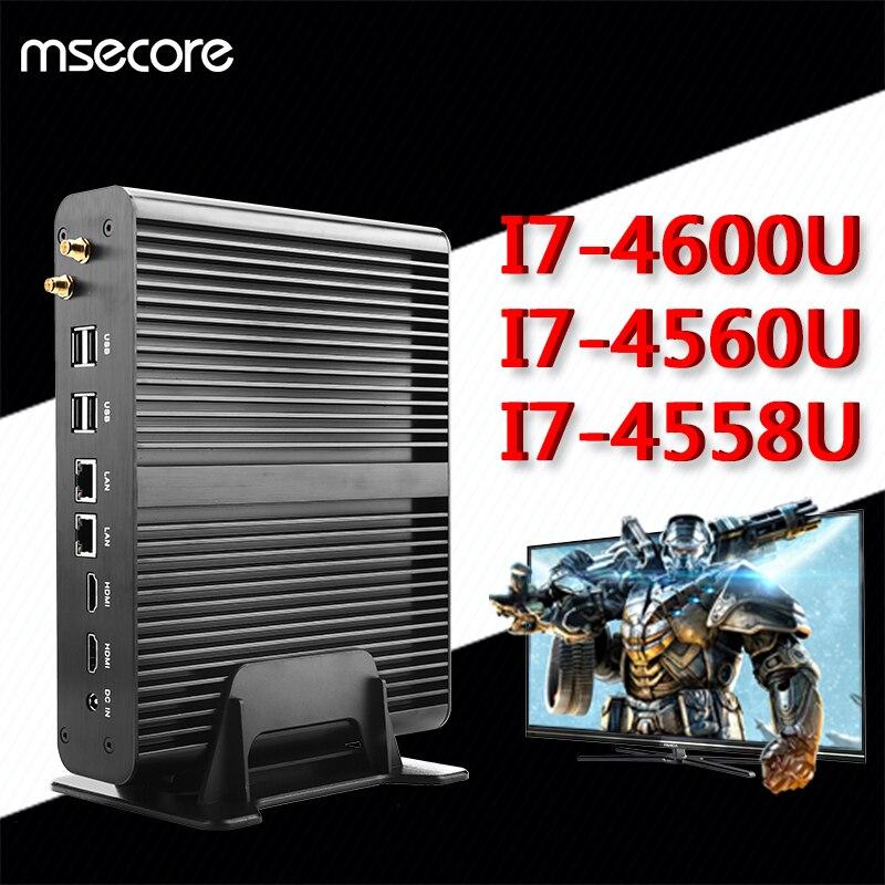 Sans ventilateur intel i7 4510u 4650u 4558u mini pc windows 10 de...