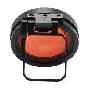 Image 5 - CAENBOO Action caméra objectif filtres Go Pro Hero 5 6 7 Super Macro 24X gros plan rouge plongée sous marine pour GoPro Hero5/6/2018 noir