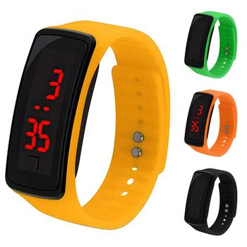 Children Student Electronic LED Sport Silicone Watchband Wrist Watch Men and Women Male And Female Students Silicone Watches image