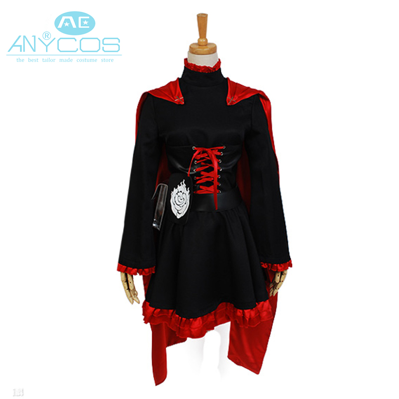 RWBY Red Trailer Ruby Uniform Dress Leggings Coat Outfit Anime Halloween Cosplay Costumes For Women Custom Made