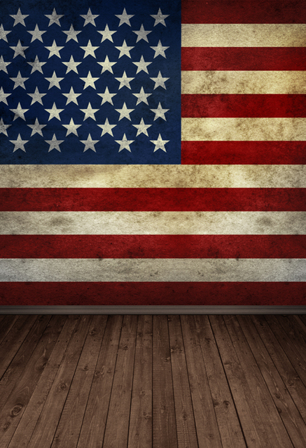 Huayi 4th Of July Portrait Photography Backdrop American Flag