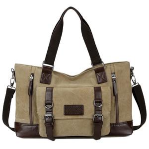 Image 3 - حقيبة قماش للرجال من مانجيهونغ حقيبة مربعة للأعمال ذات سعة كبيرة حقيبة ساعي البريد للكتف غير رسمية