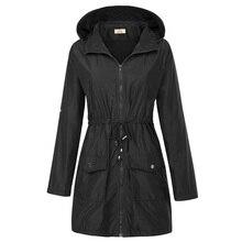 New Basic Hooded Waterproof Jacket Autumn Winter Women Long Sleeve Windbreak Solid Outwear Coats Casual Regular Fit Jackets