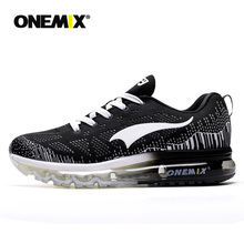 ONEMIX Sport Running Shoes Men's Air Cushion Sneakers Breathable Mesh Outdoor Casual Athletic Shoes Light Male Shoes цены онлайн
