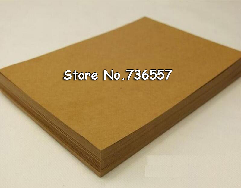 High Quality A4 Brown Kraft Paper Paperboard Cardboard Card Blank 250gsm  Wholesale!