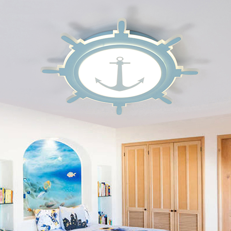 Ceiling Lights Kids Room Led Lamps With Compass For Girl Or Boy Bedroom Simple Nordic Restaurant Lighting Lustre Avize Modern