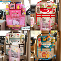 Cartoon Hello Kitty Car Organizer Seat Back Storage Bag Hanging   Stowing     Tidying   Baby Kids Travel Universal Auto Multi-pocket Bag