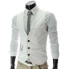 Herren anzug weste mode lässig männlich anzug weste männlichen slim fit einreiher weste mens taille mantel plus größe