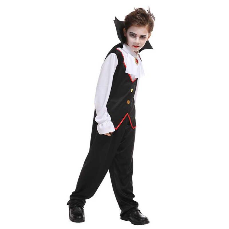 HUIHONSHE Karnaval Parti Cadılar Bayramı Çocuk Çocuk Sayısı Dracula Gotik Vampir Kostüm Fantasia Prens Vampir Cosplay Çocuklar için
