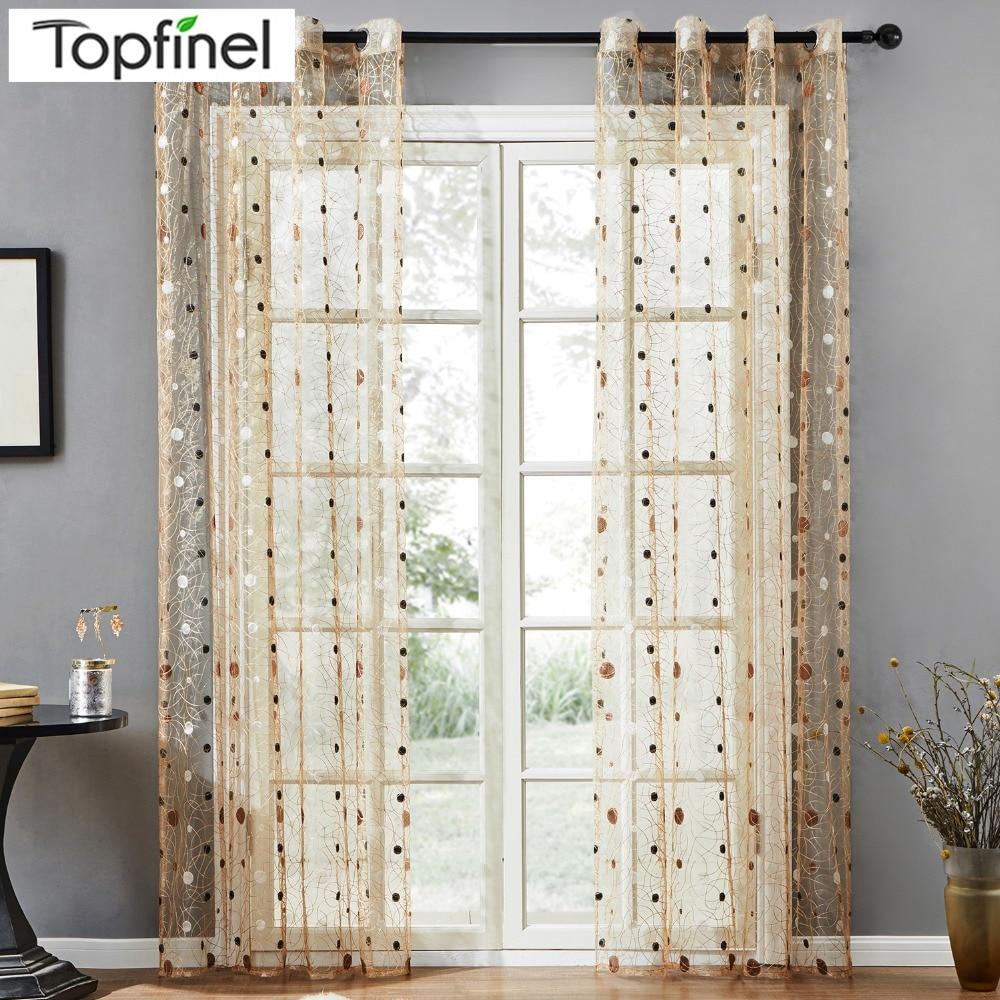 Topfinel New bird nest moderna cortina transparente para cocina, sala de estar, el dormitorio terminó las persianas de tul para ventanas de tela