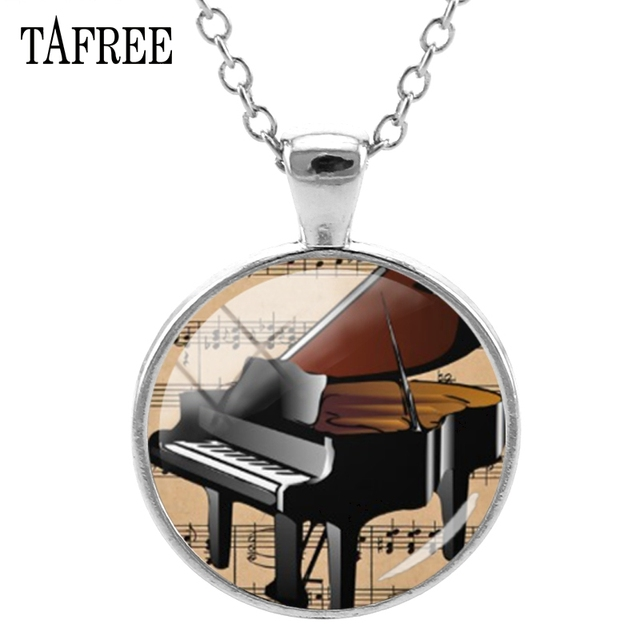 TAFREE Piano Keys Pendants Necklace Classic Attractive Women Necklaces Pendants Choker Statement Party Wedding Gift Jewelry KB63