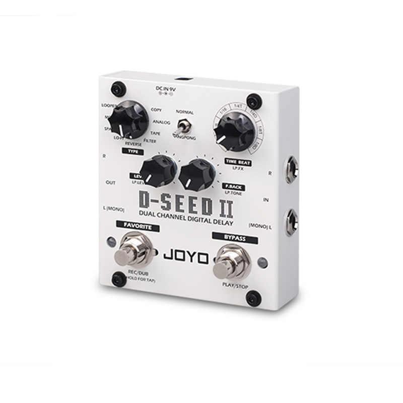 JOYO D-SEED II ستيريو بينغبونغ تأثير الغيتار دواسة تأخير بير وظيفة الشريط تسجيل محاكاة نسخة التناظرية عكس آثار