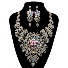 LAN PALACE new arrivals boutique wedding jewelry set  Austrian crystal necklace and earrings for party  free shipping