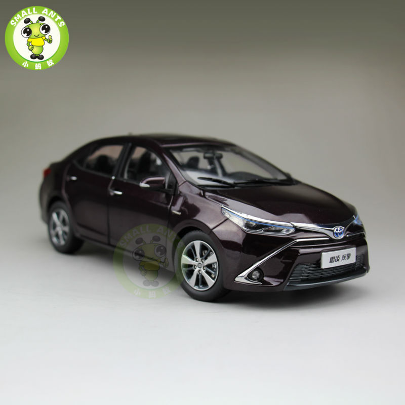 1:18 Toyota Levin Corolla HEV Hybrid Diecast Car Model purple Color