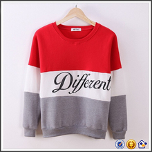 lady red white grey stripe women's sweatshirt cute women pullovers long sleeve 2017 womens fleece sweatshirt pink hoodie