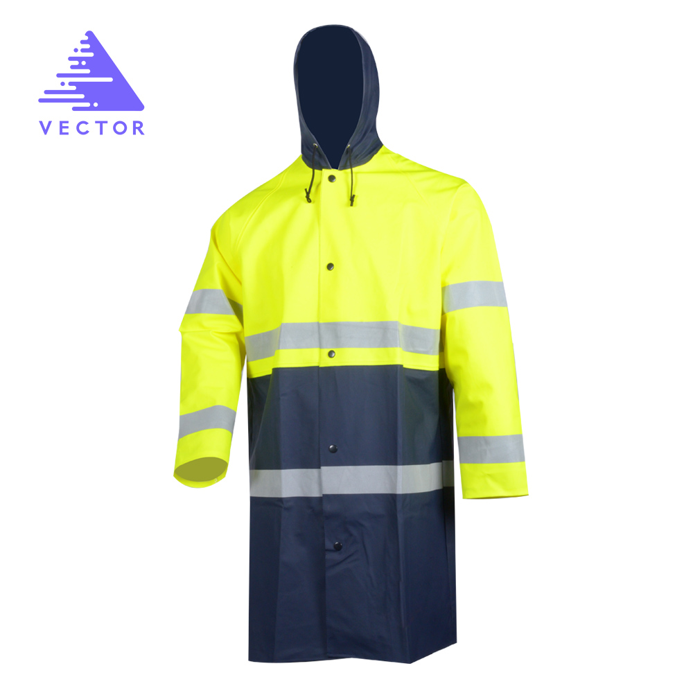 VECTOR Safety Jacket Reflective High Visibility Security Jackets Waterproof Work Wear Rain Coat Standard European size 543021 купить дешево онлайн