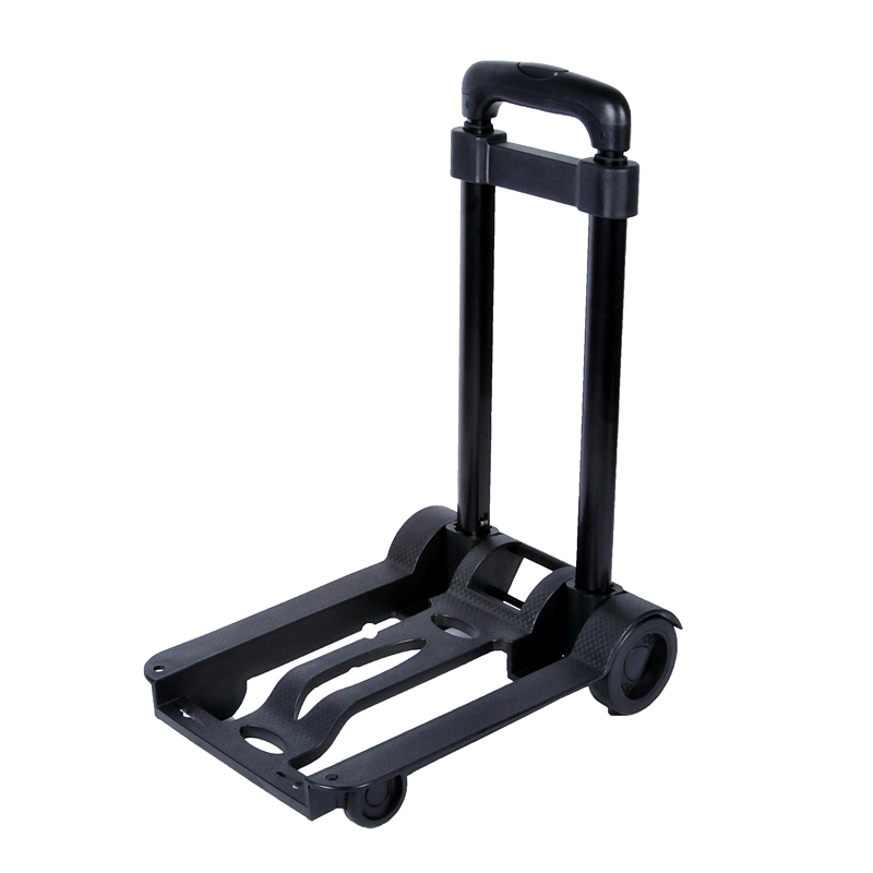 Aluminum Alloy Car Folding Luggage Cart Portable Travel Trailer Household Luggage Cart Shopping Trolley Kitchen Trolley