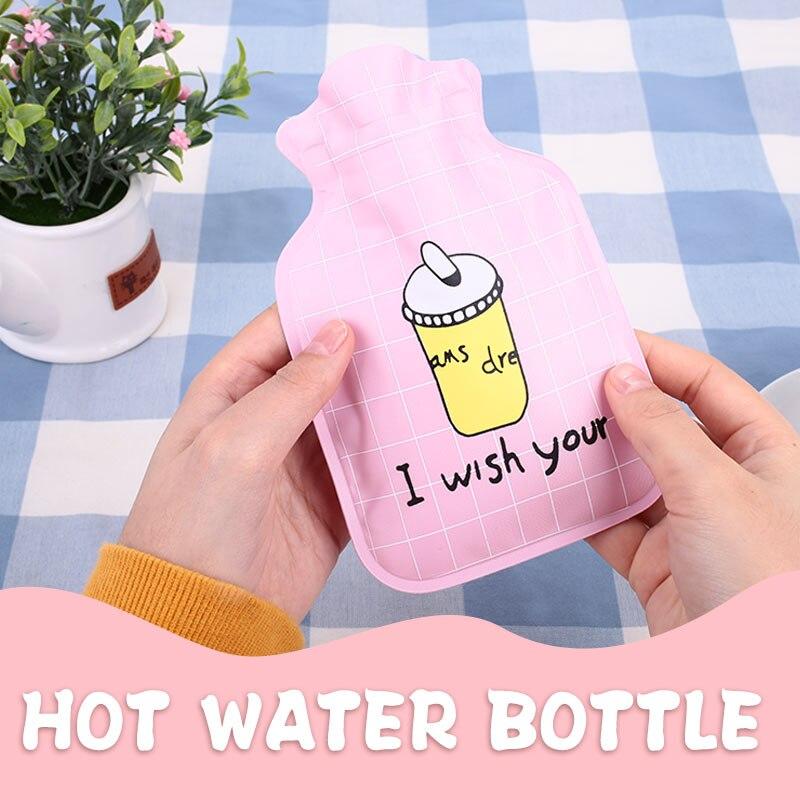 ПВХ+ EVA мини грелка для рук сумка для горячей воды прочная теплая водонепроницаемая сумка зимняя бутылка для горячей воды Прочный горячий Подарочный пакет офисный бытовой