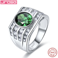Jrose 4.3ct Nano AAA CZ Solid 925 Sterling Silver Rings For Women Men Engagement Wedding Ring Oval Cut Amazing Size 7 8 9 10
