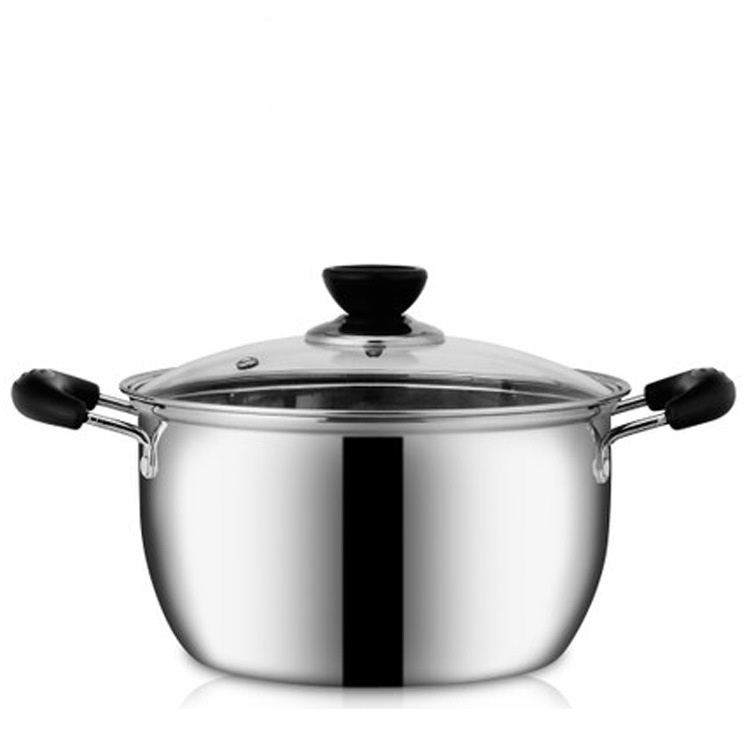 Korean classic soup double bottom soup pot gifts pot stainless steel