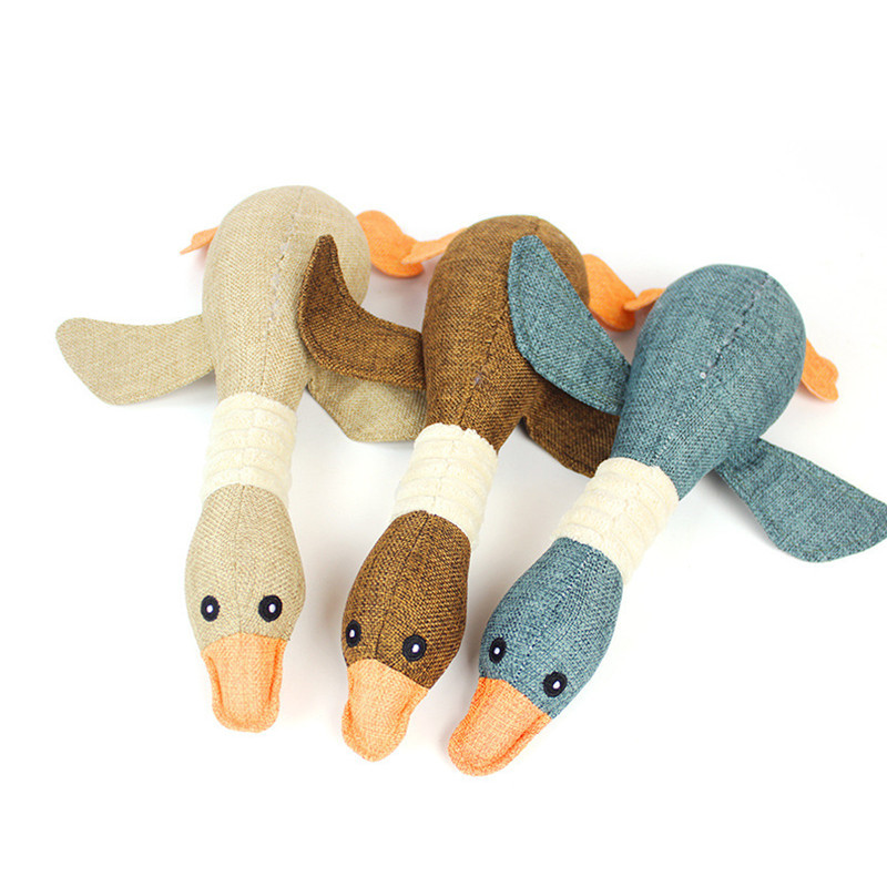 Interaction With Wild Ducks: Lovely Popular Funny Wild Geese Dog Squeak Toys Duck Cat